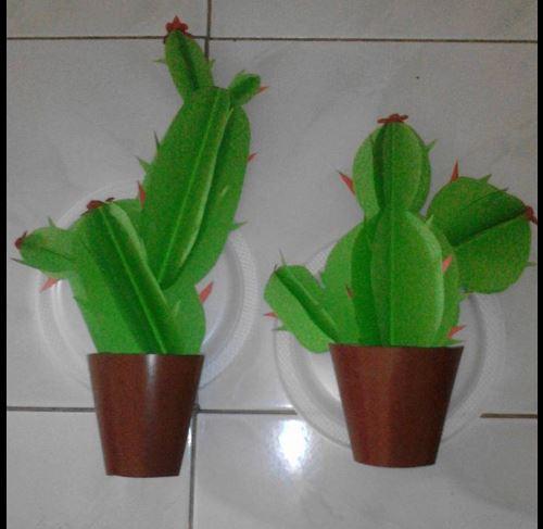 Kaktus Berbahan Origami Dekorasi Kelas Yang Sangat Bagus Dunia Belajar Anak