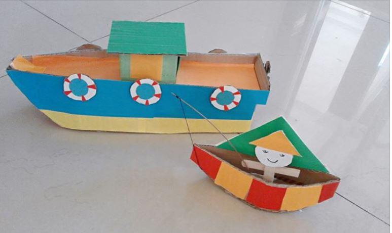 Kreasi Miniatur Kapal Dari Kardus Bekas Dunia Belajar Anak