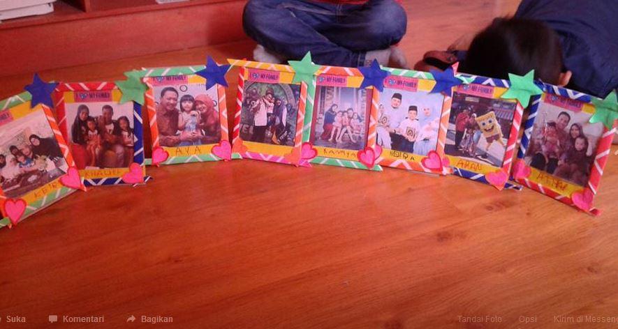 Kreasi Membuat Frame Foto Keluarga Dunia Belajar Anak