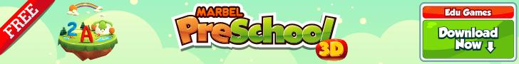 banner-marbel-pre-school-3d